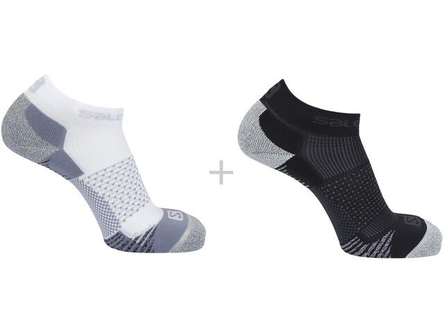 Salomon Cross Socks 2 Pack, white/black